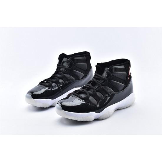 AJ11 Mid Nike Air Jordan 11 Mens Deep Black Basketbll Shoes 378037-002