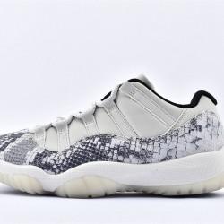 AJ11 Low Nike Air Jordan 11 White Gray Unisex Basketbll Shoes CD6848-002