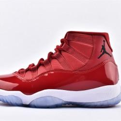 AJ11 Mid Nike Air Jordan 11 Mens All Red Shoes 378037-623
