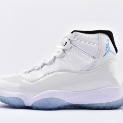 AJ11 Mid Nike Air Jordan 11 Mens All White Basketbll Shoes 378037-117