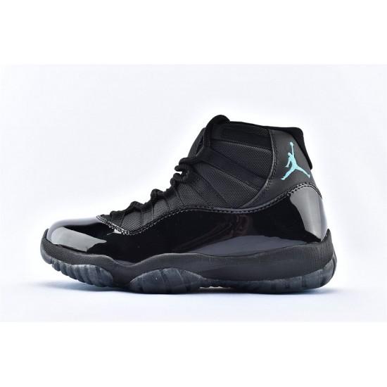 AJ11 Mid Nike Air Jordan 11 Mens Black Deep Blue Basketbll Shoes 378037-006