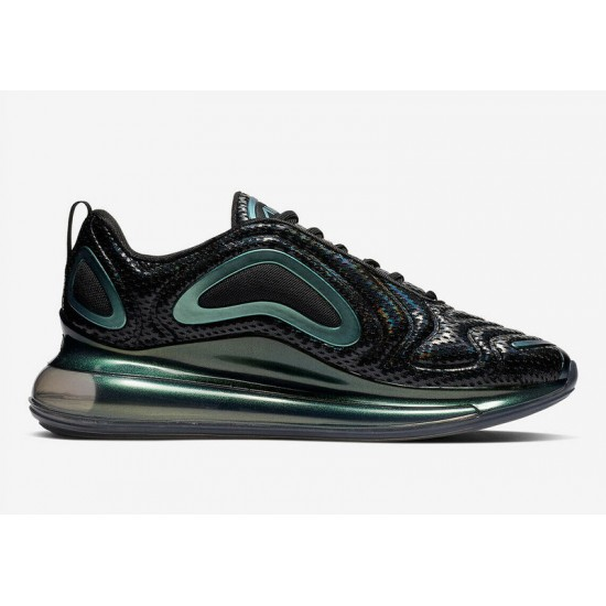 Nike Air Max 720 Black Running Shoes AO2924 003 Unisex Sneakers