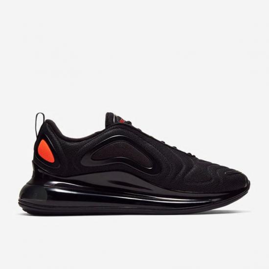 Nike Air Max 720 Mens Black Orange Running Shoes CT2204 002