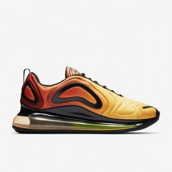 Nike Air Max 720 Yellow Unisex Running Shoes 36-45 AO2924-800 On Feet