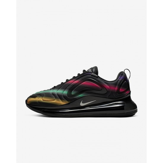 Nike Air Max 720 Black Unisex Running Shoes 36-46 AO2924 023