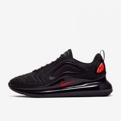 Nike Air Max 720 Mens Black Orange Running Shoes CT2204 002
