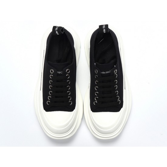 Black Alexander McQueen Womens Sneakers White Casual Shoes