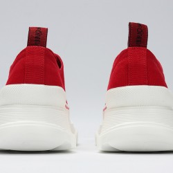 Red Alexander McQueen Womens Sneakers White Casual Shoes