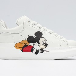 White Alexander McQueen Mens Womens Sneakers Casual Shoes