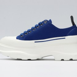 Blue Alexander McQueen Womens Sneakers White Casual Shoes