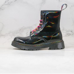 2020 Fashion Dr.martens Eight Holes Colorful High Top Black Ankle Boots