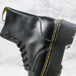 2020 Fashion Dr.martens Eight Holes High Top Black Ankle Boots