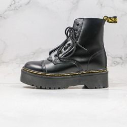 2020 Fashion Dr.martens Shop Crusty Thick Bottom High Top Black Ankle Boots