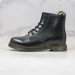 2020 Fashion Dr.martens Six Hole Middle Gang Black Ankle Boots