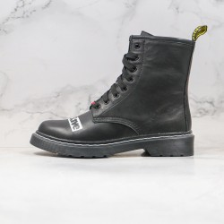 2020 Fashion SEX PISTOLS x Dr.martens Eight Hole High gang Black Ankle Boots