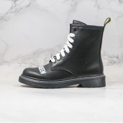 2020 Fashion SEX PISTOLS x Dr.martens Eight Hole High gang Black White Ankle Boots