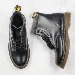 2020 Fashion Dr.martens 1460 6 Hole Middle Series G25 Black Ankle Boots