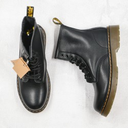 2020 Fashion Dr.martens 1460 Soft Leather 8 Holes High Top K20 Black Ankle Boots