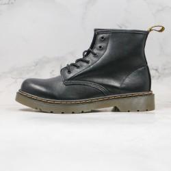 2020 Fashion Dr.martens 1460 Soft Leather 6 Hole middle K20 Black Ankle Boots