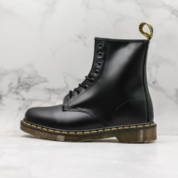 2020 Fashion Dr.martens 1460 Series 8 Hole High Top J11-5 Black Ankle Boots