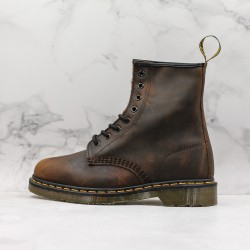 2020 Fashion Dr.martens 1460 Series 8 Hole High Top J11-5 Brown Ankle Boots