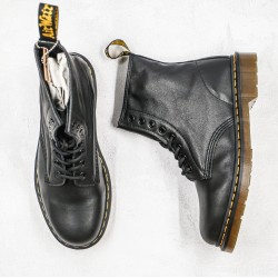 2020 Fashion Dr.martens 1460 Series Soft Leather High Top Z15 Black Ankle Boots