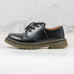 2020 Fashion Dr.martens 1461 3 Hole Low Martin Boots G25 Black Ankle Boots