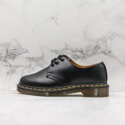 2020 Fashion Dr.martens 1461 3 Hole Low J11-5 Black Ankle Boots