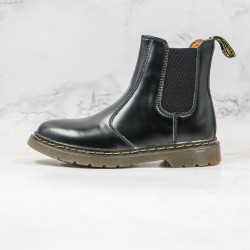 2020 Fashion Dr.martens 2976 High Top Martin Boots G25 Black Ankle Boots