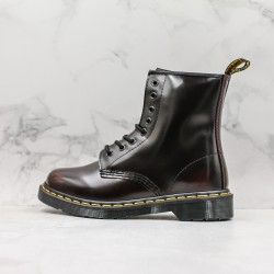 2020 Fashion Dr.martens Doctor Martin 1460 Series 8 Hole High Top J11-5 Black Ankle Boots