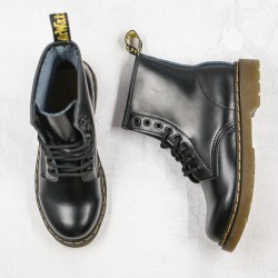 2020 Fashion Dr.martens 8 Holes Hard Leather 1460 High Top Series G25 Black Ankle Boots