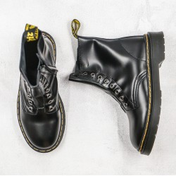 2020 Fashion Dr.martens 8 Holes High Top K20 Black Ankle Boots