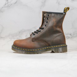 2020 Fashion Dr.martens 8 Hole High Gang J11-5 Brown Red Ankle Boots