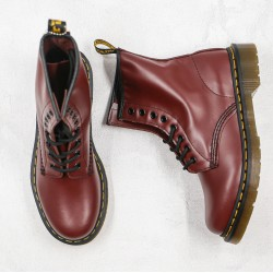 2020 Fashion Dr.martens 8 Hole High Gang J11-5 Wine Red Ankle Boots