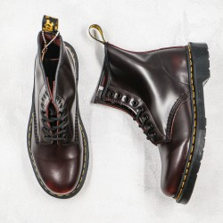 2020 Fashion Dr.martens 8 Hole High Gang Z15 Wine Red Ankle Boots