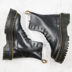 2020 Fashion Dr.martens Jadon Thick Bottom Black 8 Hole High Top Z15 Black Ankle Boots