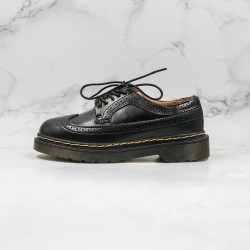 2020 Fashion Dr.martens Low 3 Hole Block Series Z15 Y26 Black Ankle Boots