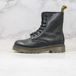 2020 Fashion Dr.martens Lychee Skin High Top 1460 K20 Black Ankle Boots