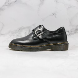 2020 Fashion Dr.martens Martin Low Buckle K19-23 All Black Ankle Boots