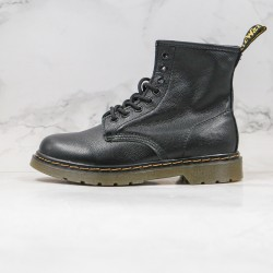 2020 Fashion Dr.martens Soft Leather 1460 8 Holes High Top Series G25 All Black Ankle Boots