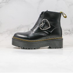 2020 Fashion Dr.martens Thick Bottom High Top K20 Black Ankle Boots