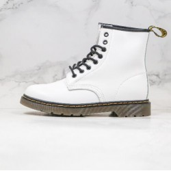 2020 Fashion Dr.martens 1460 8 Hole High Top Series G25 White Ankle Boots