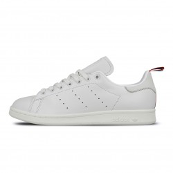 2020 Adidas Stan Smith Crystal White Footwear White Scarlet Casual Shoes BD7433 Unisex Sneakers