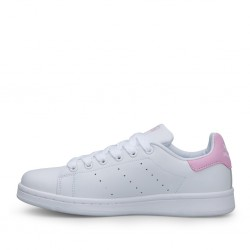 2020 Adidas Stansmith White Pink Casual Shoes BA9858 Women Sneakers