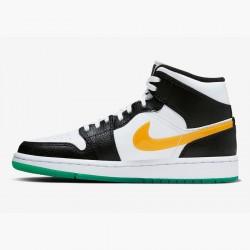 2020 Nike Air Jordan 1 Mid Black Red White Basketball Shoes BQ6472 063 Unisex AJ1 Sneakers