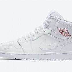 2020 Nike Air Jordan 1 Mid Euro Tour White Basketball Shoes CW7589 100 Unisex Sneakers