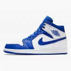 2020 Nike Air Jordan 1 Mid Hyper Royal White Blue Basketball Shoes 554724 114 Unisex Sneakers