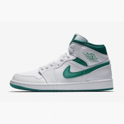 2020 Nike Air Jordan 1 Mid SE Mystic Green Green White Basketball Shoes Unisex CD6759 103 Sneakers