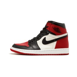 2020 Nike Air Jordan 1 Retro High Bred Toe Basketball Shoes 555088 610 Unisex AJ1 Sneakers
