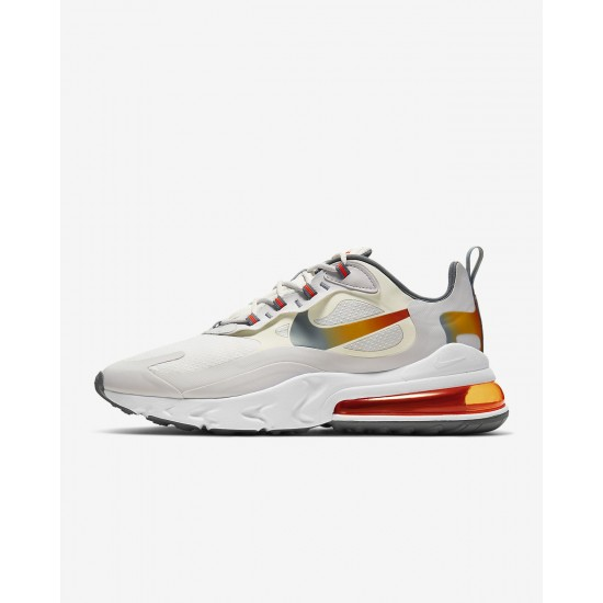 2020 Nike Air Max 270 React Red White Beige Running Shoes CD6615 100 Unisex Sneakers